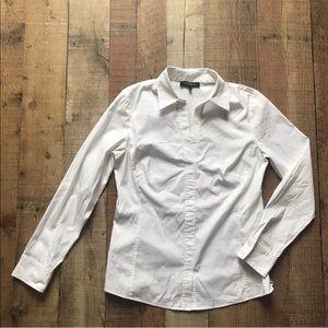 Lafayette 148 Women's Blouse Long Sleeve White 6